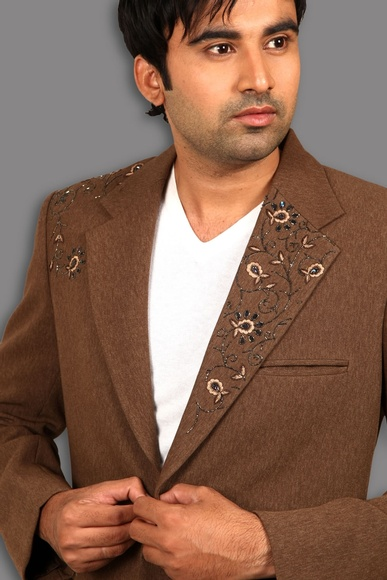 Notch Lapel Brown Jodhpuri Suit BL3050