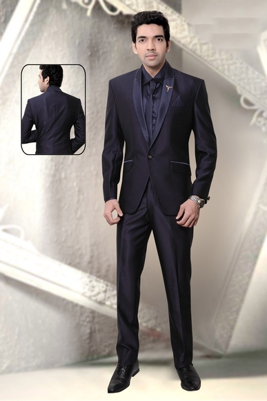 Slim Fit One Button Wedding Reception Suit