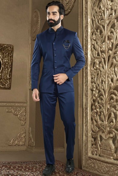Royal Blue Bandhgala Jodhpuri Suit