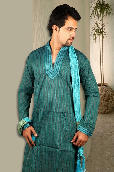 Cerulean Shade Cotton Kurta BL4025