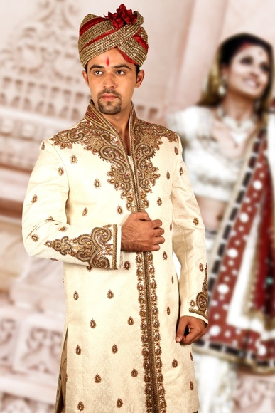Marvelous Cream Sherwani BL2035