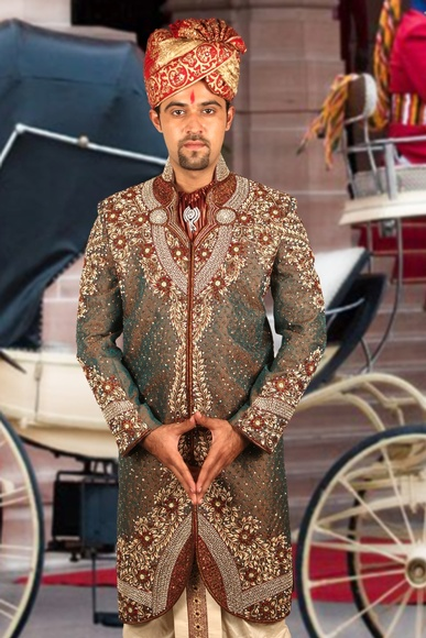 Marvelous Wedding Dhoti Sherwani BL2047
