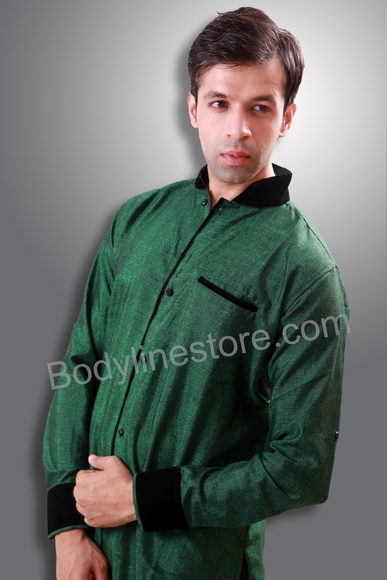 Green Semi Sherwani BL1059