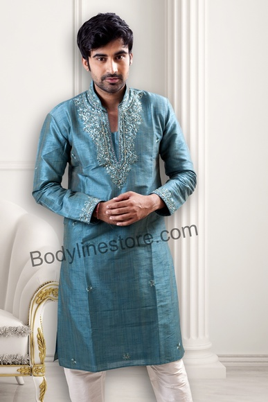 Light Blue Kurta Pajama BL4044