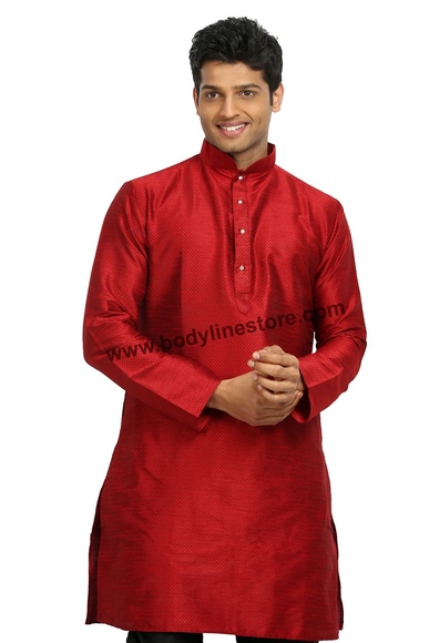 Red Silk Kurta RK4120