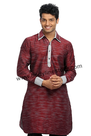 Cotton Linen Pathani Kurta RK4099