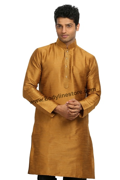 Gold Silk Kurta RK4117