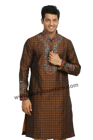 Coffee Kurta Pajama RK4058