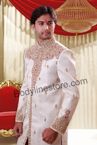 Off White Sherwani BL2053