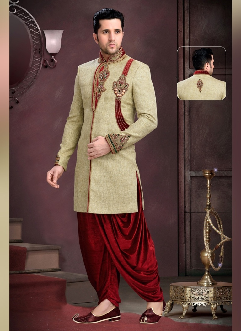 Brown Color Glamour Indo Western Sherwani