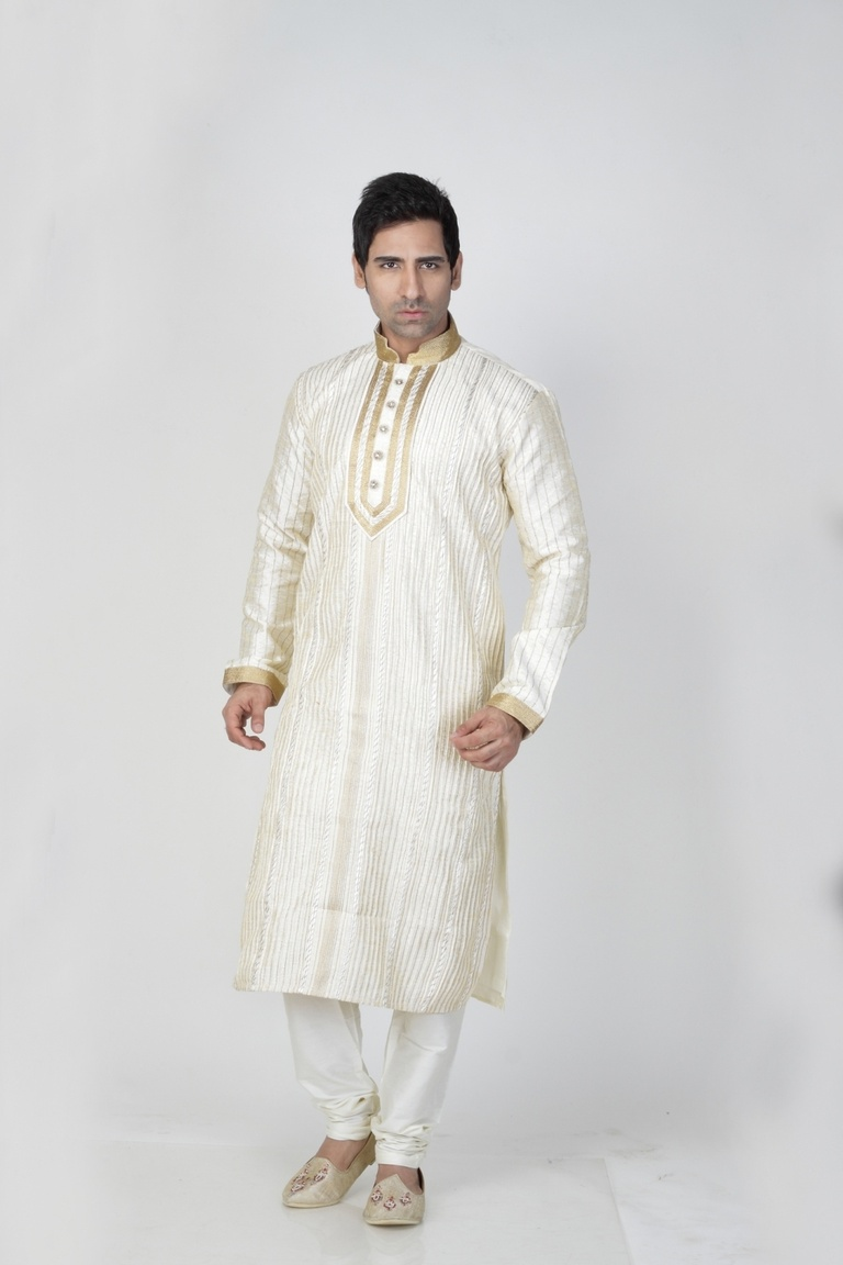 White Color Sangeet Kurta Payjama