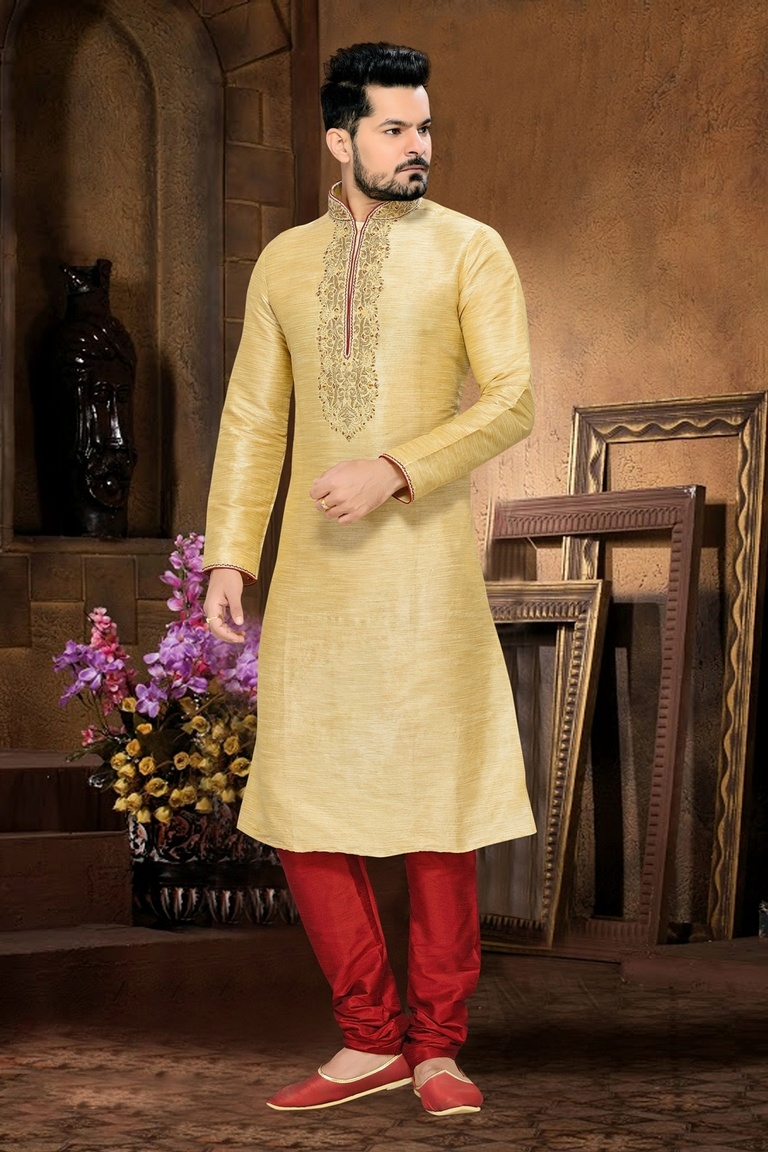 Mesmerizing Cream Color Kurta Payjama