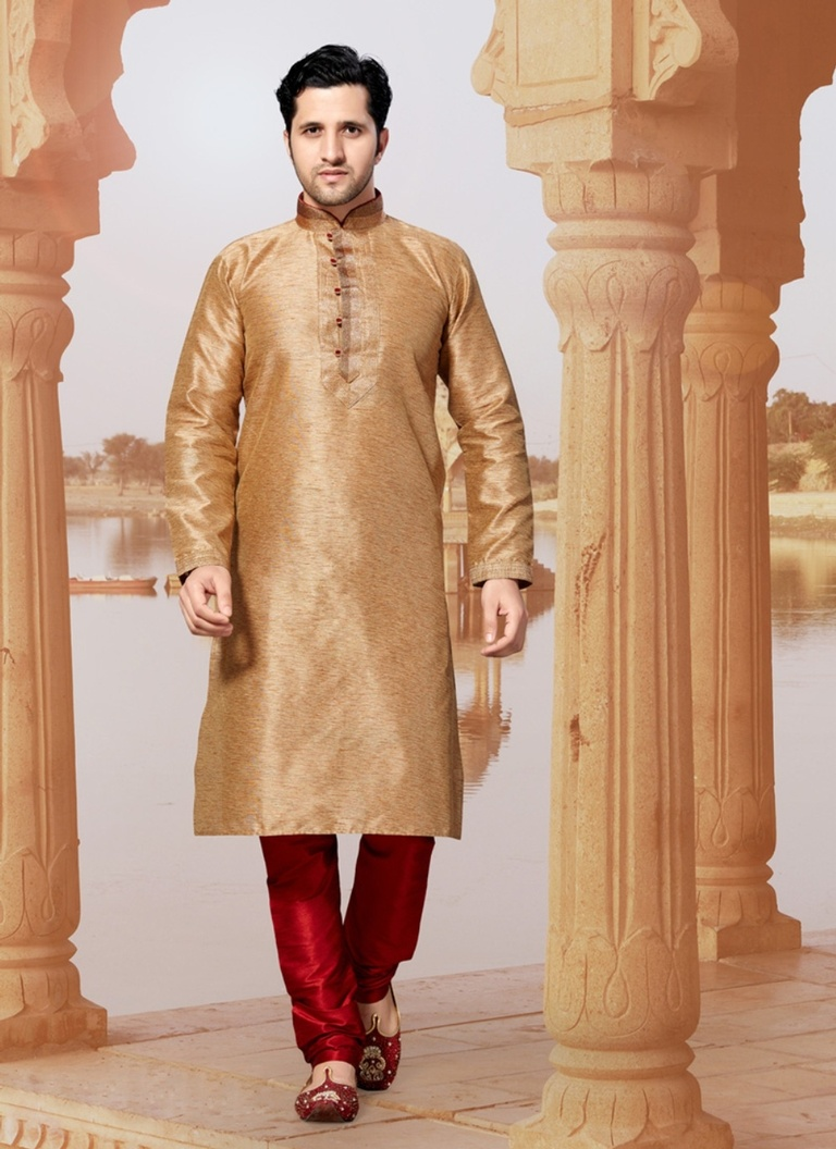 Sofisticated Brown Color  Kurta Payjama