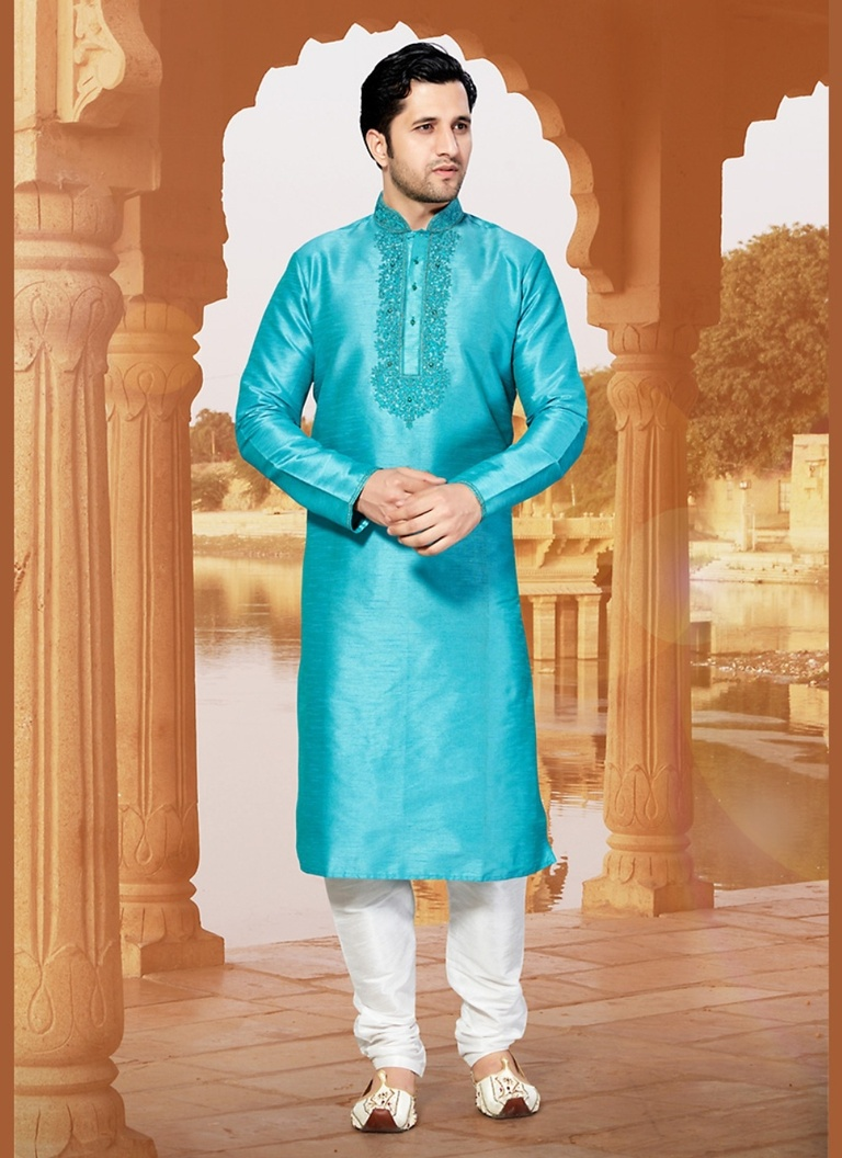 Bodylinestore | Products | wedding kurta | Stylish Blue Color Kurta ...