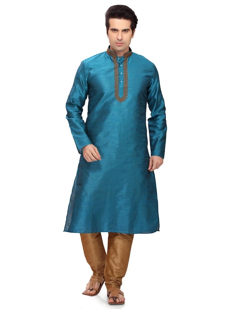 Bodylinestore | Products | wedding kurta | Rich Look Blue Color ...