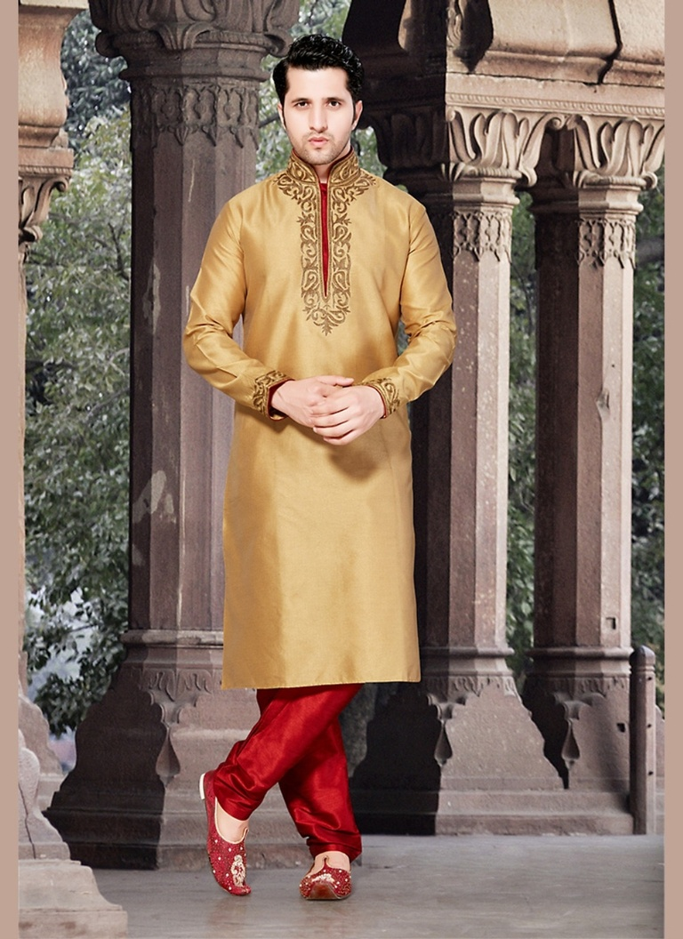 Brown Color Festive Kurta Payjama
