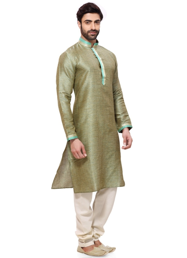 Stunning Green Color Royal Kurta Payjama