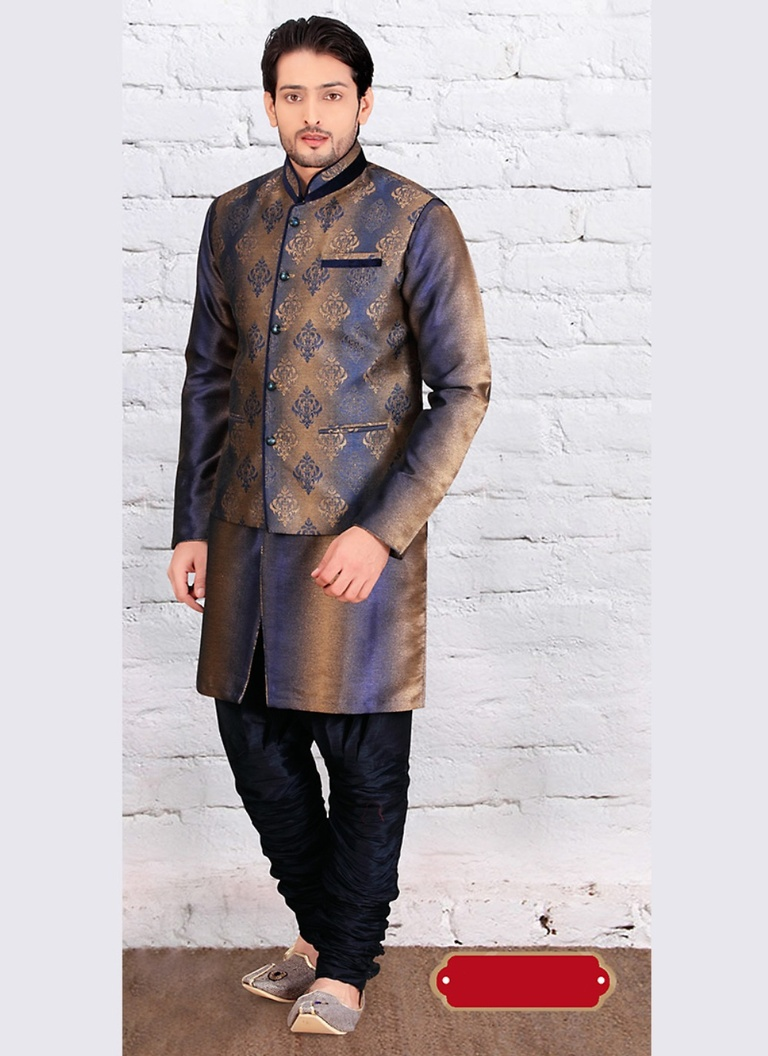 Dazzing Life Style Brown Color Indo Western Sherwani