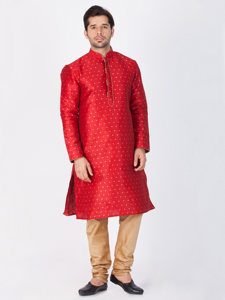 Fancy Maroon Cotton Kurta Payjama