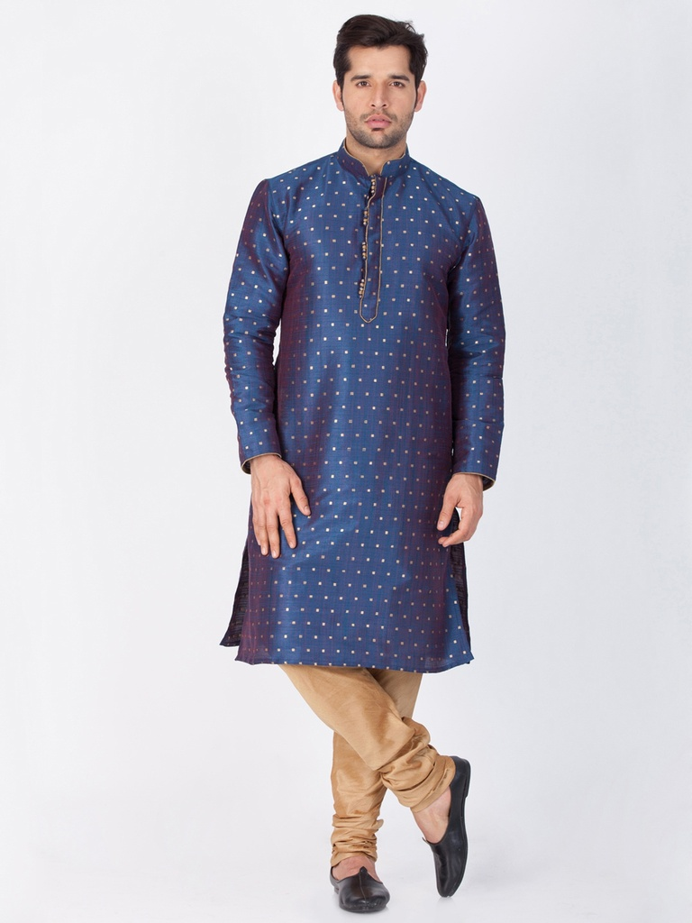 Beautiful Blue Cotton Kurta Payjama