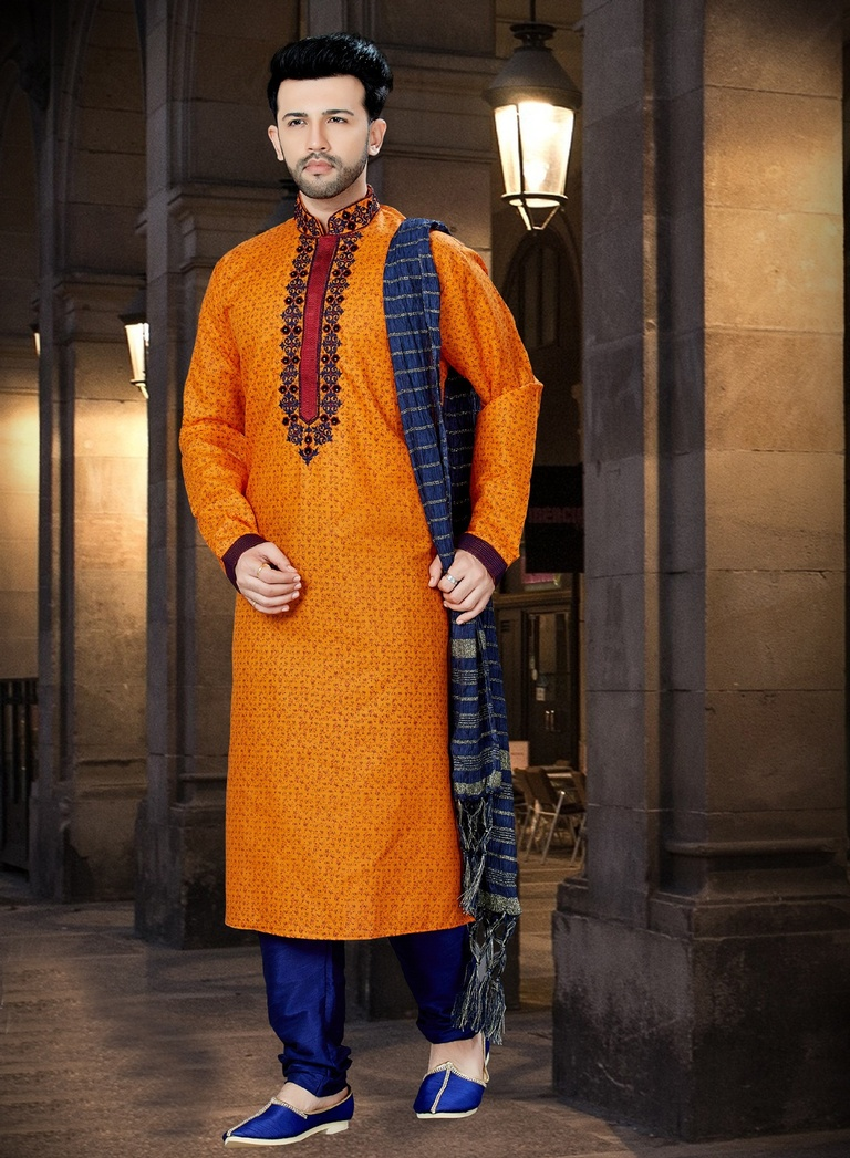 Online Glamorous Look Printed Kurta For Men