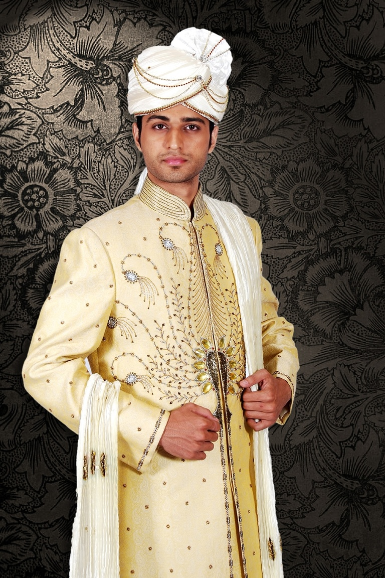 Traditional Cream Sherwani BL2029