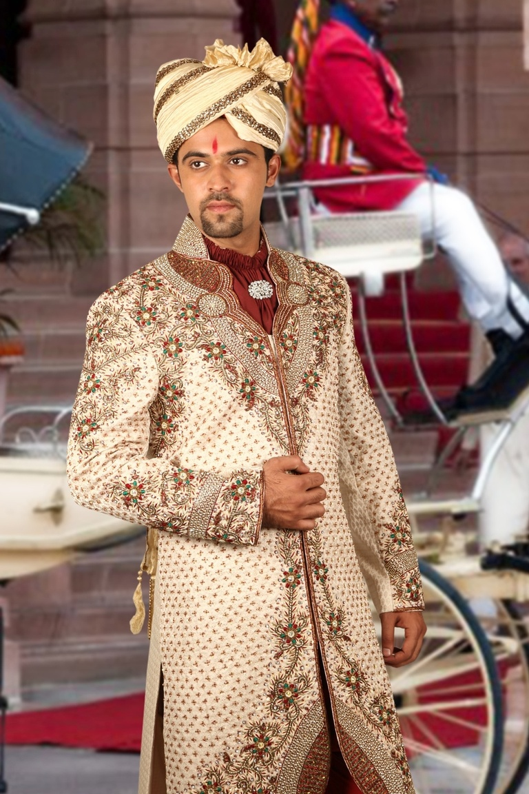 Splendid Wedding Dhoti Sherwani BL2039