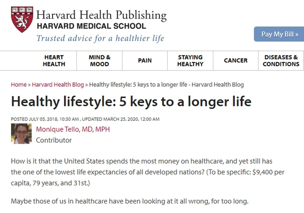 Healthy Lifestyle 5 Keys to a Longer Life