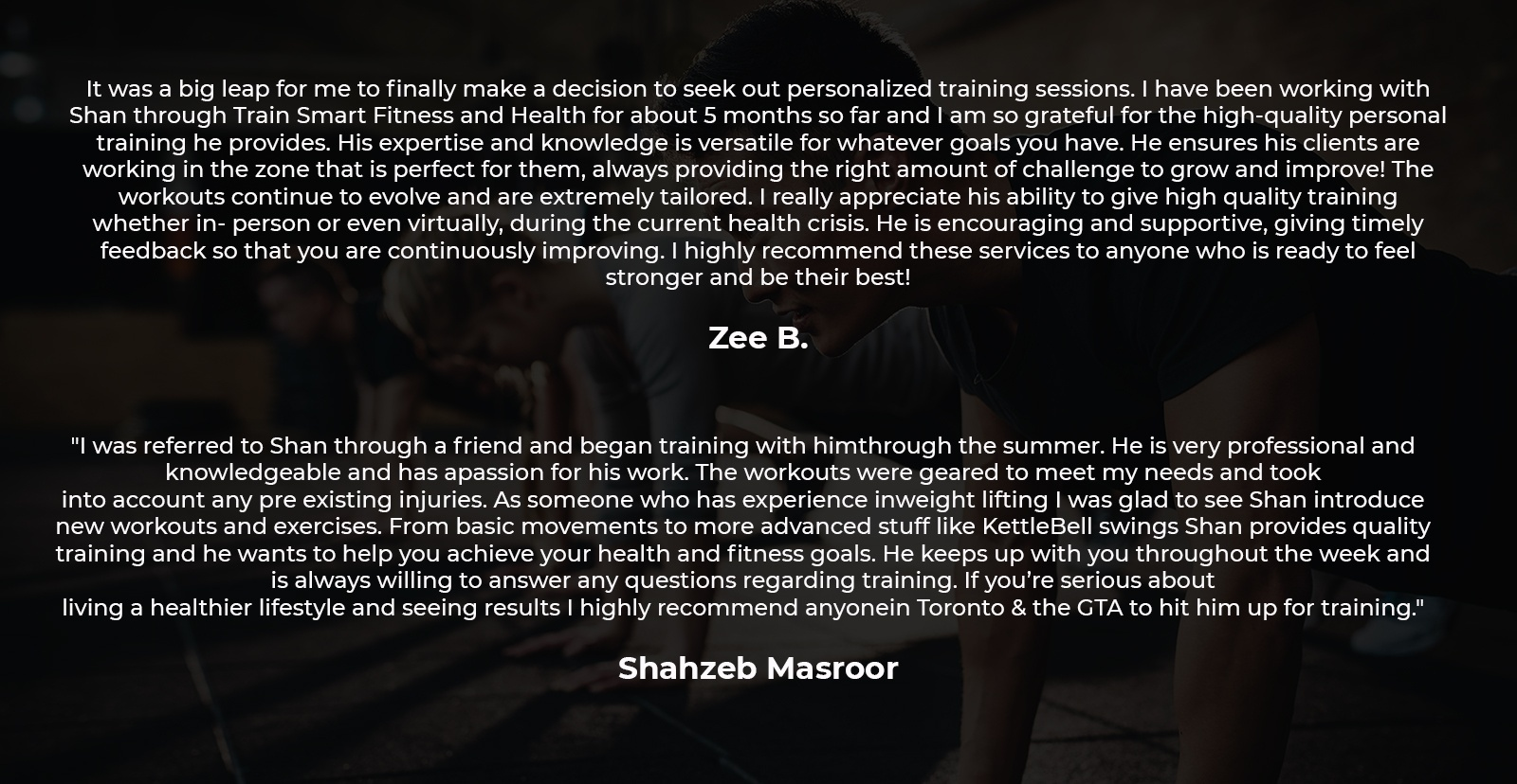 Client Review - Online Personal Training Services Mississauga by Train Smart Fitness & Health