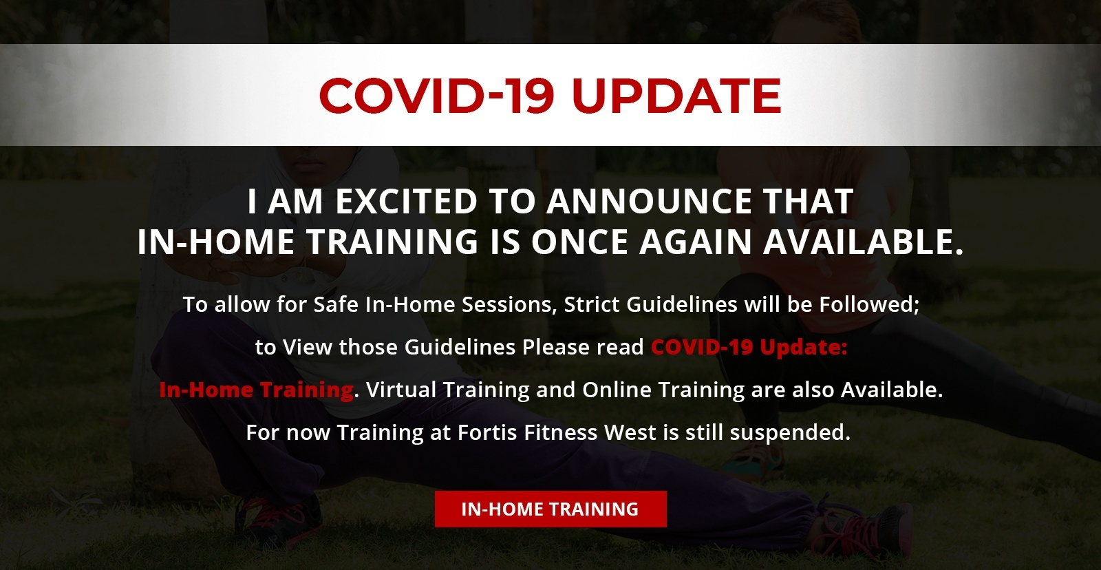Covid-19 Update - In Home Personal Training Aurora by Train Smart Fitness & Health
