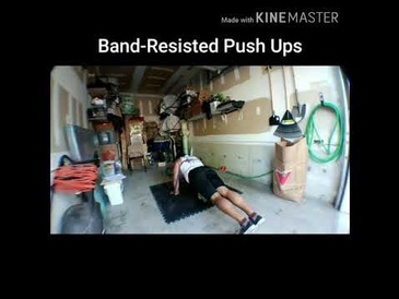 Band-Resisted Push Ups by Mobile Personal Trainer Toronto at Train Smart Fitness & Health