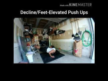 Decline Feet-Elevated Push Ups by Personal Trainer Burlington at Train Smart Fitness & Health