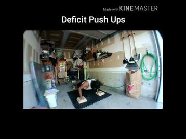 Deficit Push Ups by Personal Trainer Orangeville at Train Smart Fitness & Health