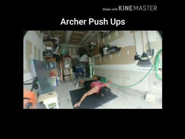 Archer Push Ups by Mobile Personal Fitness Trainer Vaughan at Train Smart Fitness & Health