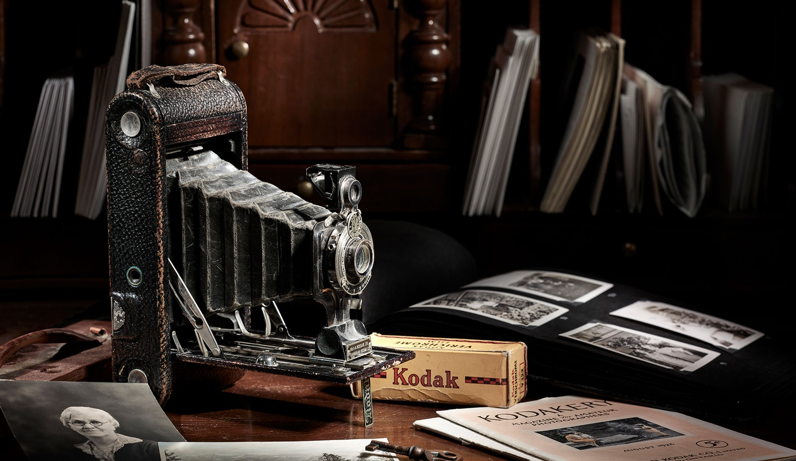 Vintage Camera on a Desk - Commercial Photography Toronto by Ian Grant
