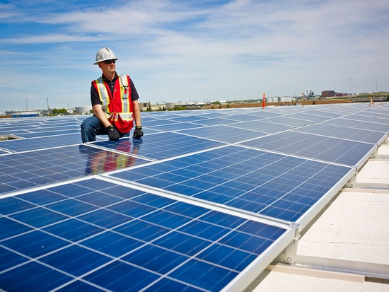 Rooftop Solar Panels - Commercial Photography Edmonton by Ian Grant
