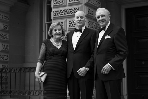 Groom with his Parents Captured by Matt Tibbo - Luxury Wedding Photographer in Toronto