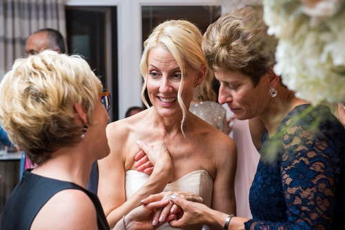 Bride Chatting with her Friends Captured by Wedding Photographer Milton - Matt Tibbo