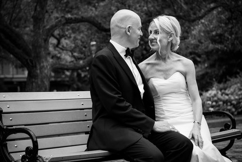 Newly married couple gaze at each other - Luxury Wedding Photography Toronto