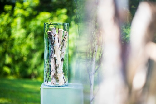 Wooden Sticks in a Glass Captured by Luxury Wedding Photographer Barrie