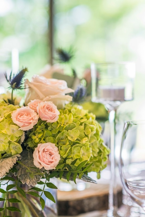 Wedding Head Table Bouquets Captured by Luxury Wedding Photographer Vaughan - Matt Tibbo