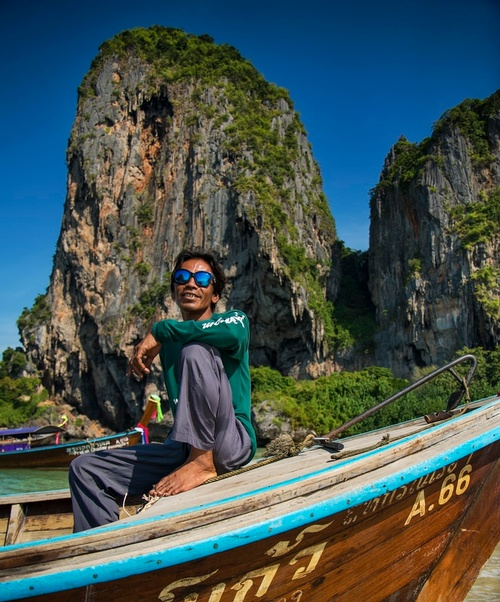 Tourist at Phra Nang Beach - Travel Photography Services by Matt Tibbo