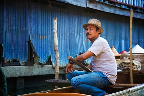 Boatman with his Boat - Travel Photography Services Uxbridge by Matt Tibbo