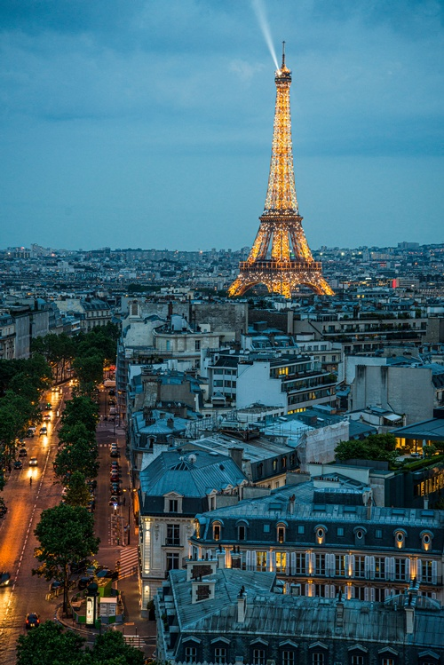 Eiffel Tower view from Arc de Triomphe - Travel Photography Services by Matt Tibbo