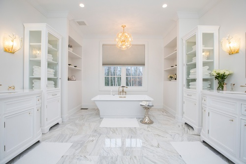 White Master Bathroom - Real Estate Photography Services Shelburne by Matt Tibbo