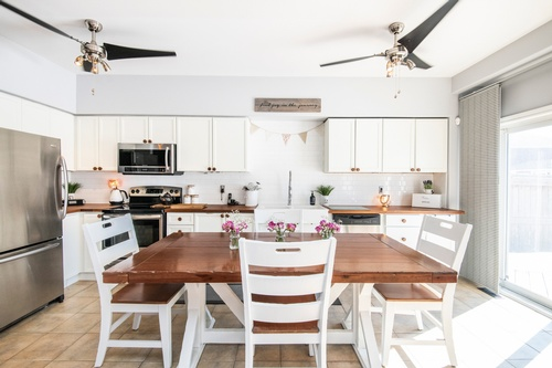 Fabulous Shabby Chic Kitchen captured by Real Estate Photographer Toronto - Matt Tibbo