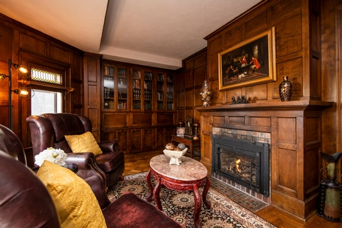 Classic Wooden Living Room Captured by Real Estate Photographer Mississauga