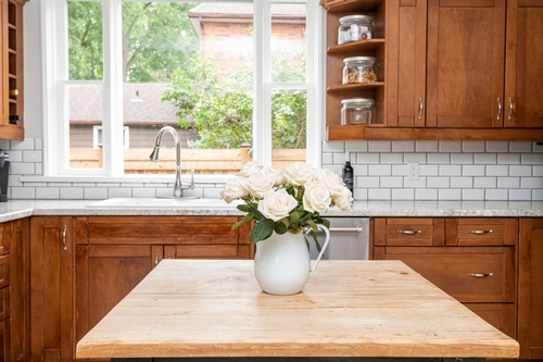 Flower Pot on Kitchen Countertop - Real Estate Photography Services Mississauga by Matt Tibbo