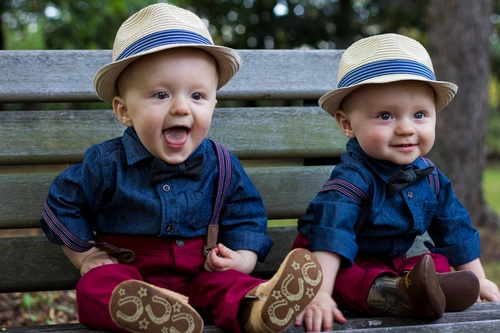 Cute Twin Babies Captured by Luxury Wedding Photographer Milton - Matt Tibbo