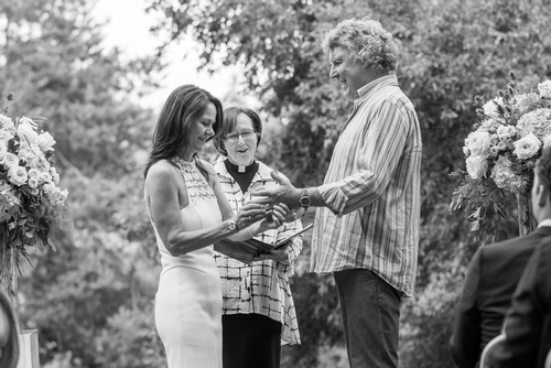 Wedding Ring Ceremony Captured by Wedding Photographer Oakville - Matt Tibbo